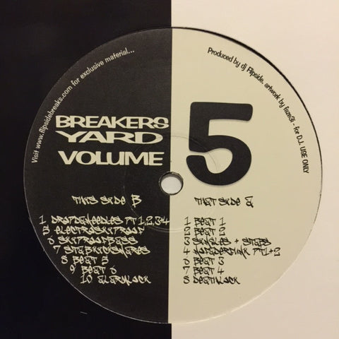 "DJ Flipside ‎– Breakers Yard Volume 5 12"" Flipside Productions ‎– FLIP005"