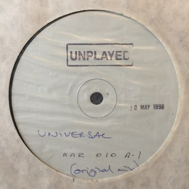 "Universal - Just Too Scared 12"" PROMO Red Ant Records ‎– RAR010"