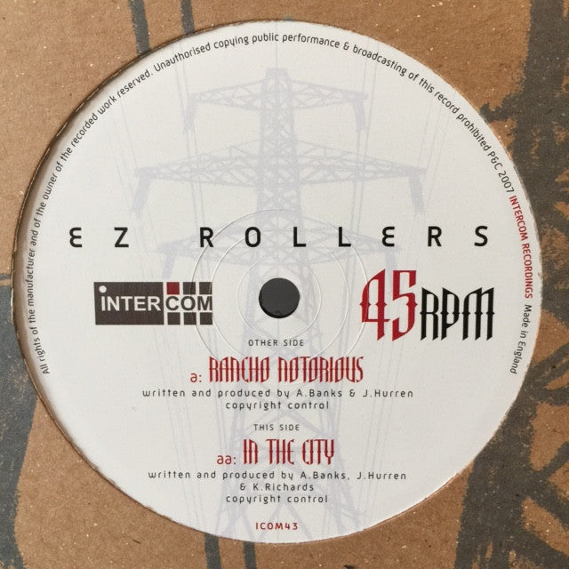 "E-Z Rollers ‎– Rancho Notorious / In The City 12"" Intercom Recordings ‎– ICOM 043"