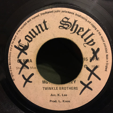 "Twinkle Brothers, Jackie Brown ‎– Mother Whiney / Fight My Way 7"" Count Shelly ‎– CS 031"