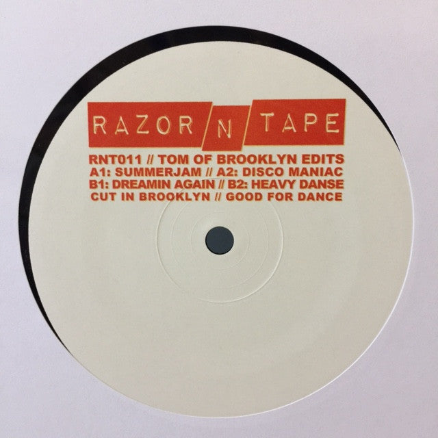 "Tom Of Brooklyn ‎– Tom Of Brooklyn Edits 12"" Razor N Tape ‎– RNT011"