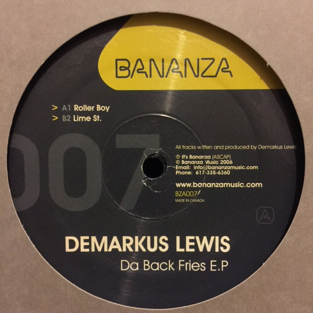 "Demarkus Lewis - Da Back Fries EP 12"", EP Bananza Music BZA007"