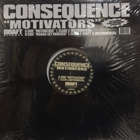"Consequence - Motivators 12"" Draft Records ‎– 12DRF21"