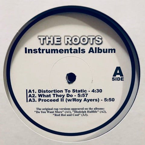 "The Roots ‎– Instrumentals Album 2x12"" PROMO ‎– 1887 RTINST"