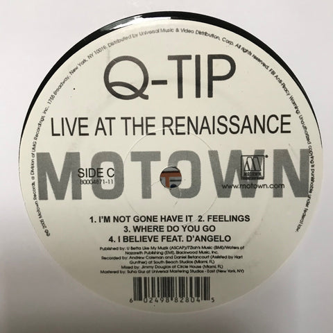Q-Tip ‎– Live At The Renaissance - Motown - B0004871-11 (C/D RECORD Only)