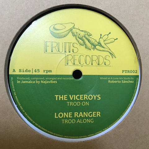 The Viceroys, Lone Ranger, Prince Alla ‎– Troddin' On - Fruits Records ‎– FTR002