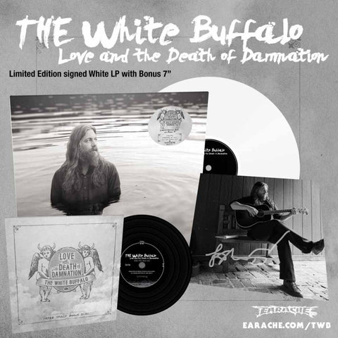 "The White Buffalo ‎– Love And The Death Of Damnation 12"" (White Vinyl) Earache ‎– MOSH557LPWS"