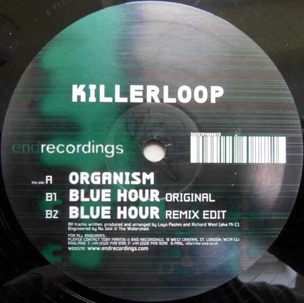"Killerloop - Organism / Blue Hour 12"" END036 End Recordings"