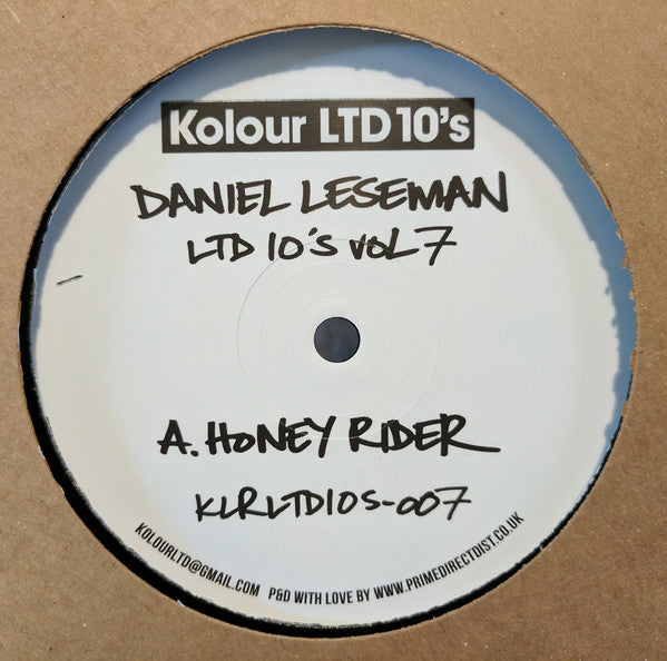 Daniel Leseman ‎– Honey Rider / Mr Scaramanga - Kolour Ltd 10's ‎– VOL 7, KLRLTD10s-007
