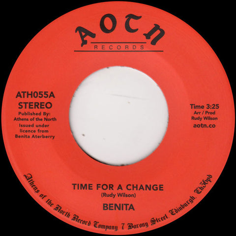 Benita ‎– Time For A Change - Athens Of The North ‎– ATH055