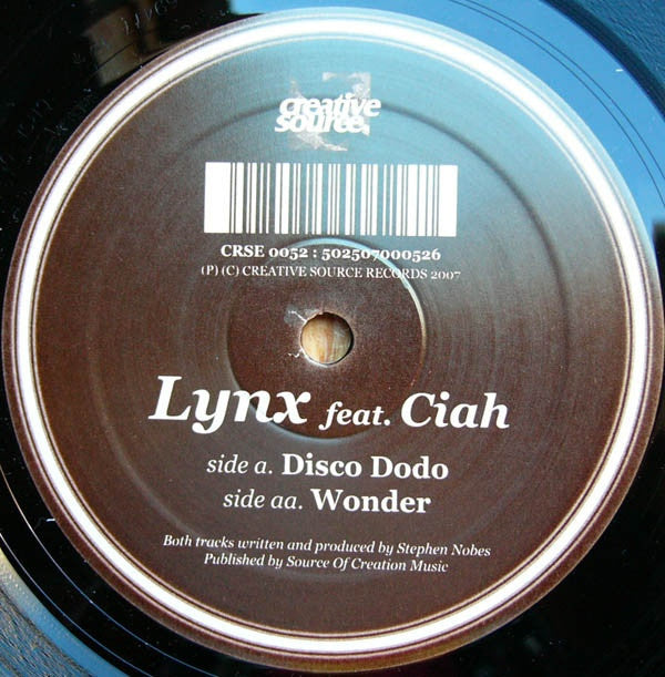 "Lynx, Ciah - Disco Dodo / Wonder 12"" CRSE0052 Creative Source"