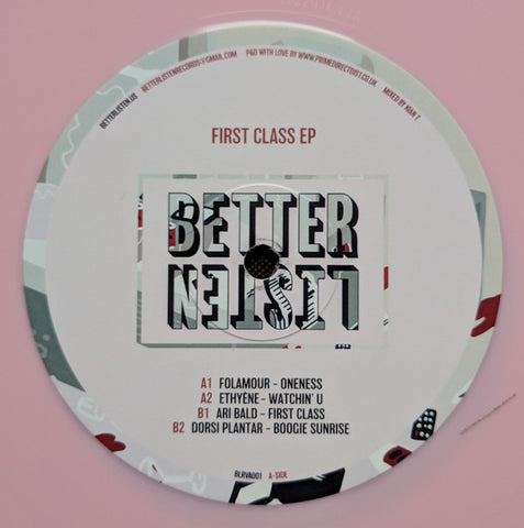 Various ‎– First Class EP - Better Listen Records ‎– BLRVA001