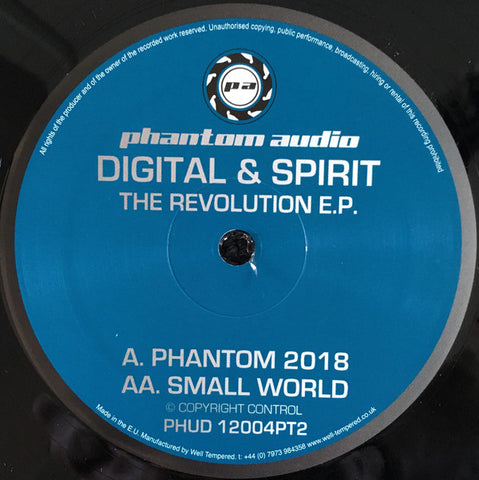 Digital & Spirit ‎– The Revolution EP (Part 2) Phantom Audio ‎– PHUD12004PT2
