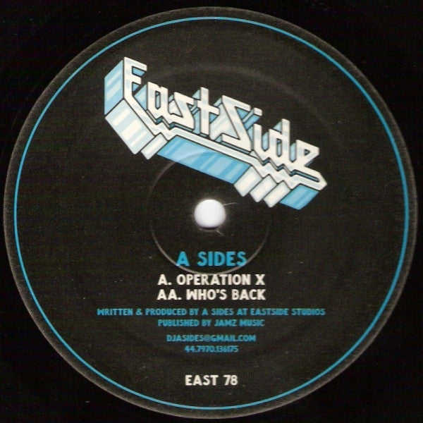 "A Sides - Operation X / Who's Back 12"" EAST78 Eastside Records"