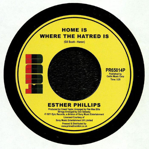 Esther Phillips ‎– Home Is Where The Hatred Is - Kudu ‎– PR65014P