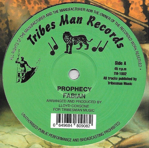 Fabian - Prophecy - Tribes Man Records ‎– TM1002