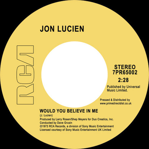 Jon Lucien ‎– Would You Believe In Me RCA ‎– 7PR65002