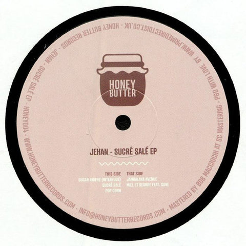 Jehan - Sucre Sale EP - Honey Butter Records ‎– HONEY004