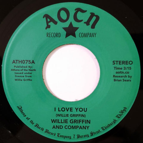 Willie Griffin And Company - I Love You - Athens Of The North ‎– ATH075