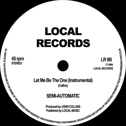 Jaye Williams ‎– Let Me Be The One Local Records ‎– LR9