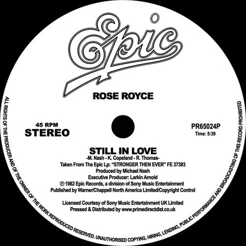 Rose Royce ‎– Still In Love / Best Love - Epic ‎– PR65024P