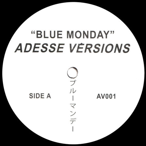 Adesse Versions ‎– Blue Monday AV001