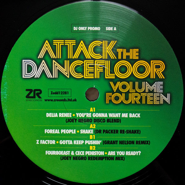 Various ‎– Attack The Dancefloor Volume Fourteen - Z Records ‎– ZEDD12281