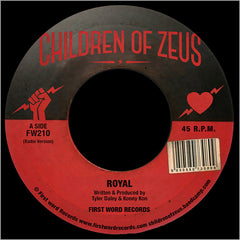 Children of Zeus ‎– Royal / Get What's Yours - First Word Records ‎– FW210