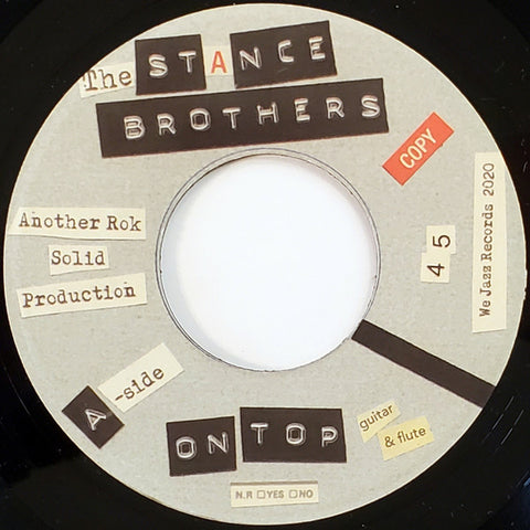 The Stance Brothers ‎– On Top We Jazz ‎– WJ0711