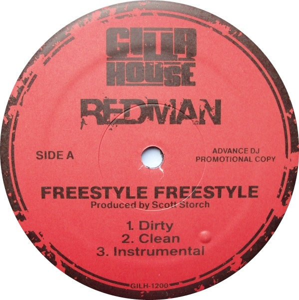 "Redman - Freestyle Freestyle / Walk In Gutta 12"" GILH1200 Gilla House"