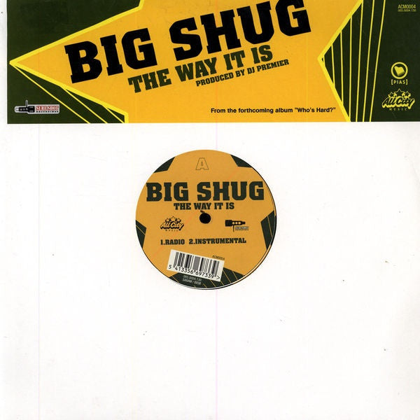 "Big Shug - Tha Way It Is 12"" ACM0004 All City Music"