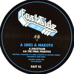 "A Sides, Makoto - Spacetrain / The Final Fugutive 12"" EAST82 Eastside Records"