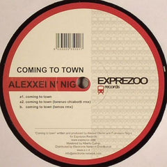 "Alexxei N' Nig - Coming To Town 12"" EXPV001 Exprezoo Records"