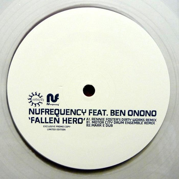 NUfrequency, Ben Onono - Fallen Hero - REPRESS REB032 Rebirth RSD