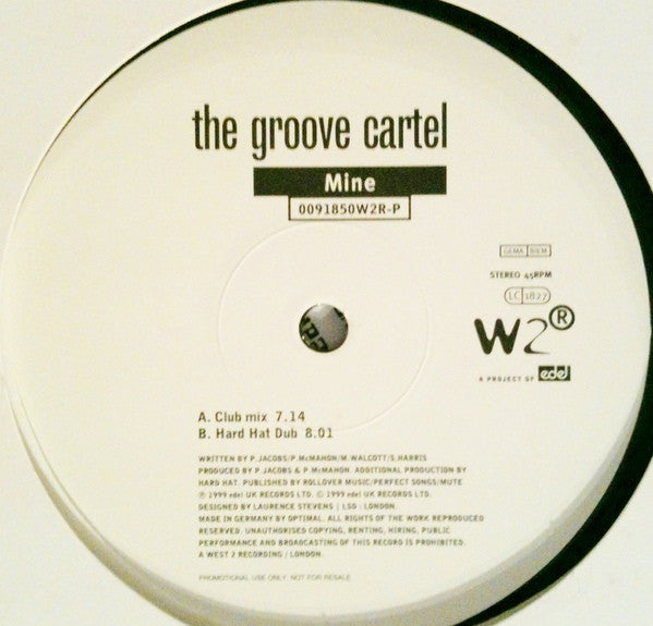 "The Groove Cartel - Mine 12"" 0091850W2RP West 2 Recordings"