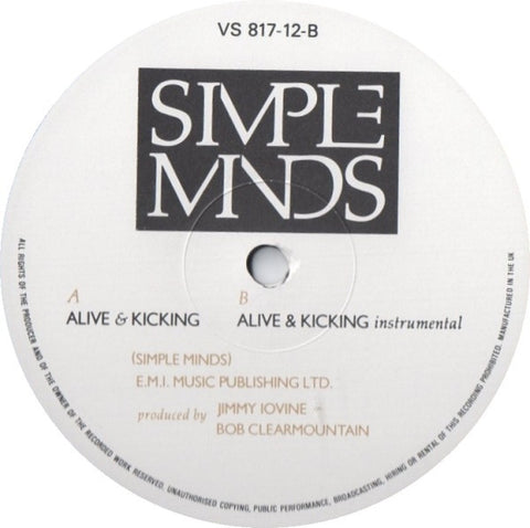 "Simple Minds - Alive & Kicking 12"" VS81712 Virgin"