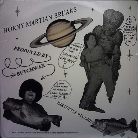 "Butchwax - Horny Martian Breaks 12"" HMB001 Dirt Style Records"