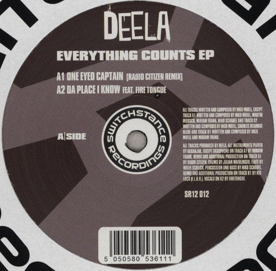 "Deela - Everything Counts EP 12"" SR12012 Switchstance Recordings"