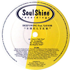 "Deep Swing, Xavior - Shelter 12"" SS006 SoulShine Recordings"
