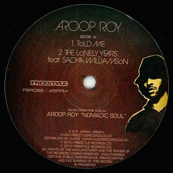 "Aroop Roy - Told Me Album Sampler 12"" FSR088 Freestyle Records"