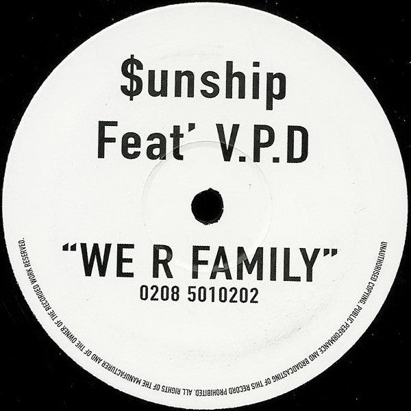 "$unship Feat' V.P.D - We R Family 12"" Public Demand TP-001"
