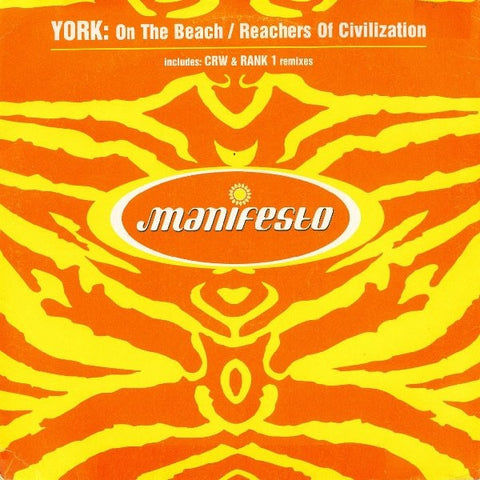 "York - On The Beach / Reachers Of Civilization 12"" FESX70 5688911 Manifesto, Mercury"