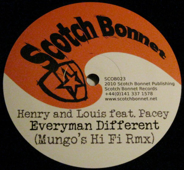 Henry And Louis / Pacey ‎– Everyman Different Scotch Bonnet ‎– SCOB023