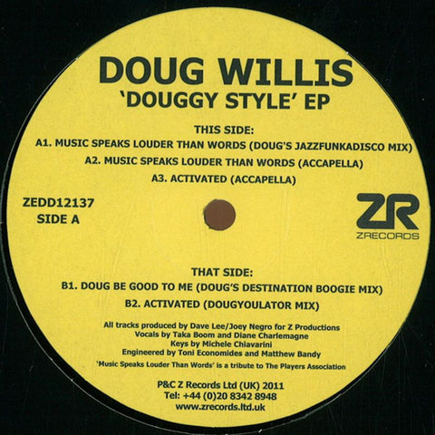 Doug Willis ‎– Douggy Style EP - Z Records ‎– ZEDD12137