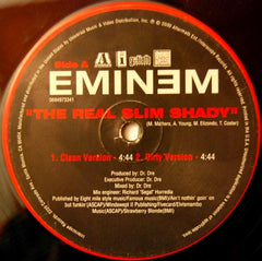 "Eminem - The Real Slim Shady 12"" 069493341 Aftermath Entertainment"