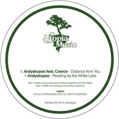 "Andyskopes - Distance From You / Reading By The White Lake 12"" UM006 Utopia Music"
