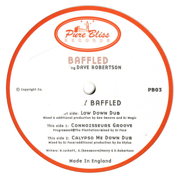 Baffled - Dave Robertson - Totally Baffled - Pure Bliss Records PB03