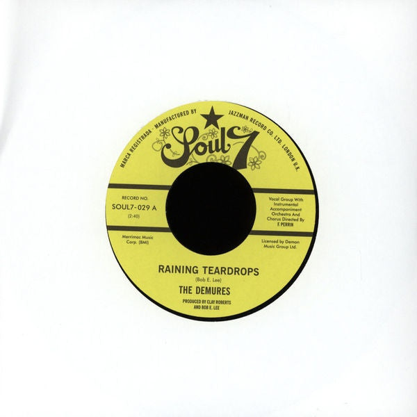 "The Demures* / The Lost Generation ‎– Raining Teardrops 7"" Soul7 ‎– SOUL7.029"