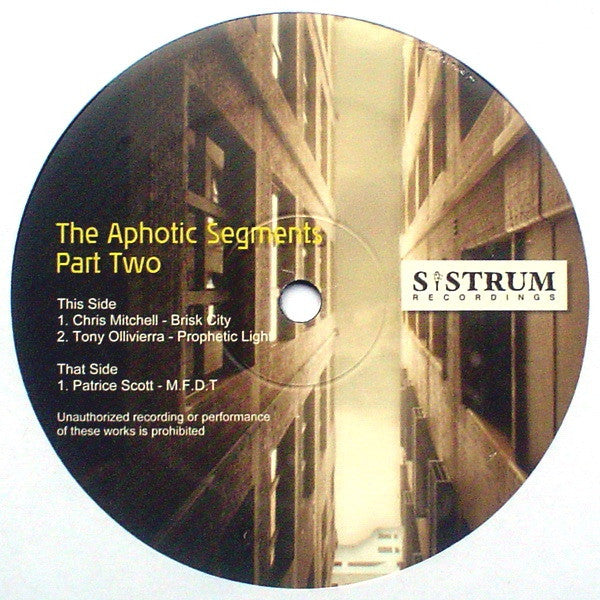 "Various - The Aphotic Segments Part Two 12"" SIS019 Sistrum Recordings"