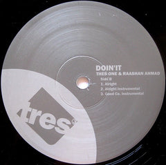 "Thes One & Raashan Ahmad - Doin' It 12"" TR396005 Tres Records"